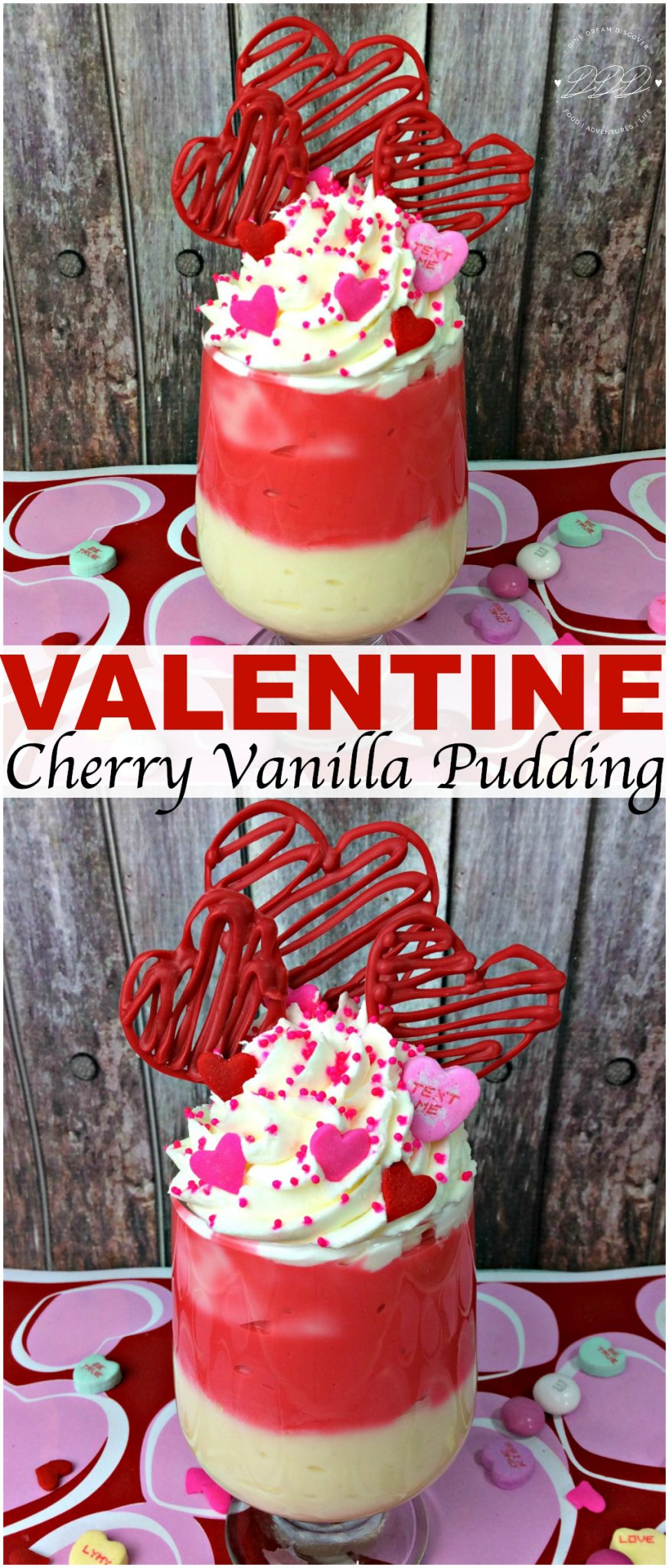 The Cherry Vanilla Pudding Valentines Day Treat is a delicious homemade cherry and vanilla pudding treat that will please even little ones tastebuds.