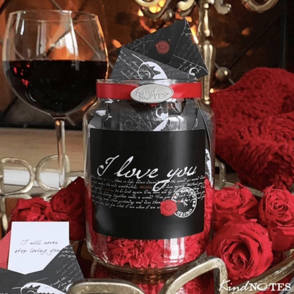 valentine love notes in a jar