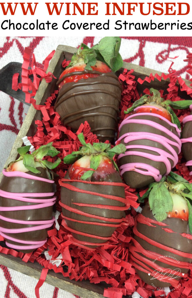 Chocolate Covered Strawberries are a delicacy in itself. But when you have wine, chocolate and strawberries all rolled into one and are Weight Watchers friendly, you are in heaven. Wine infused, wine soaked whatever you want to call it, are to die for.