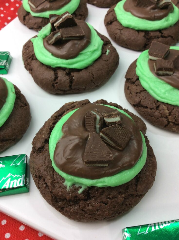 The Andes Mint grasshopper cookie is a must for anyone that loves Thin Mints and is my favorite Andes Mint recipe. Who doesn't love Andes Mints? They are truly the perfect amount of chocolate and mint.