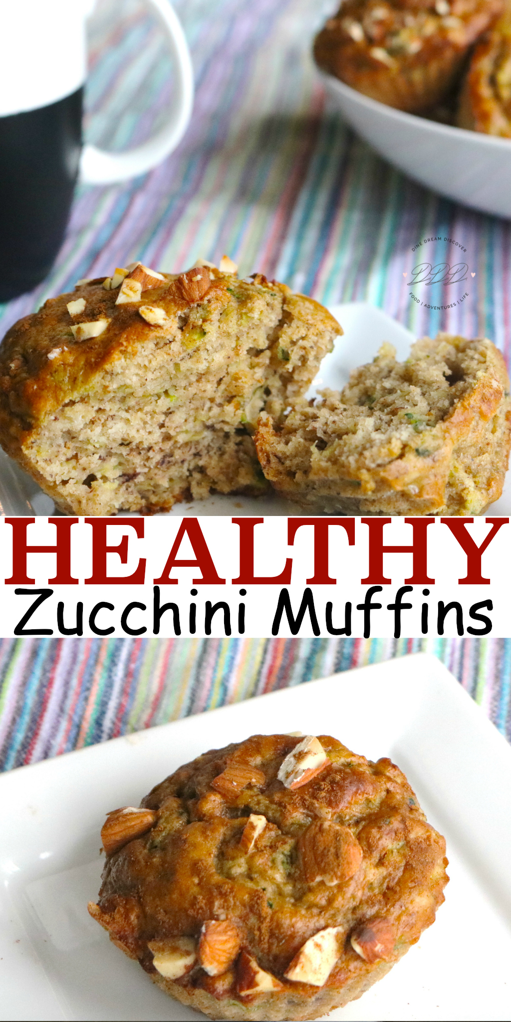 The Almond Banana Zucchini Muffins are healthy zucchini muffins made with almond meal which is similar to almond flour. These savory zucchini muffins are perfect for a grab-n-go breakfast.