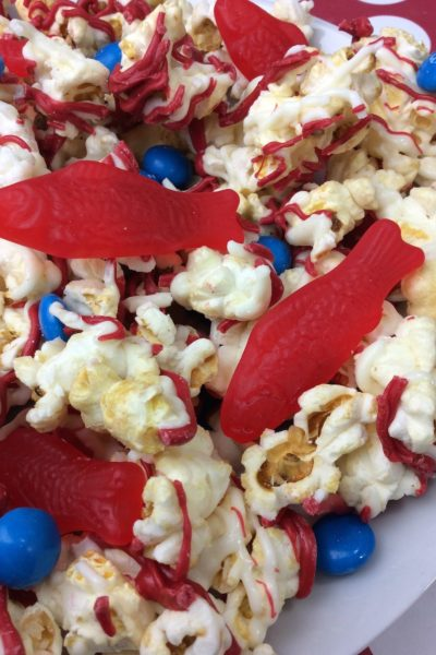Whether we are sharing One Fish Two Fish Dr. Seuss Kettle Corn recipe or the Red Fish Blue Fish Cookie recipe, they are all perfect for Dr. Seuss' birthday on March 2nd.