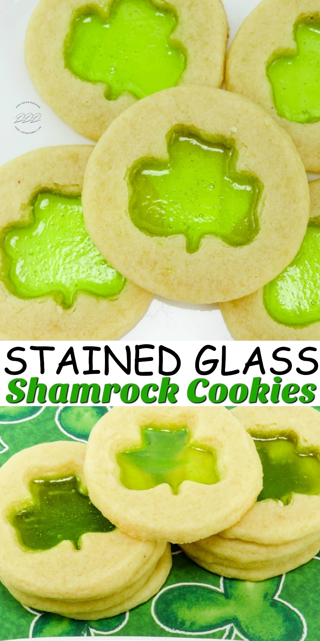 STAINED GLASS SHAMROCK COOKIES RECIPE