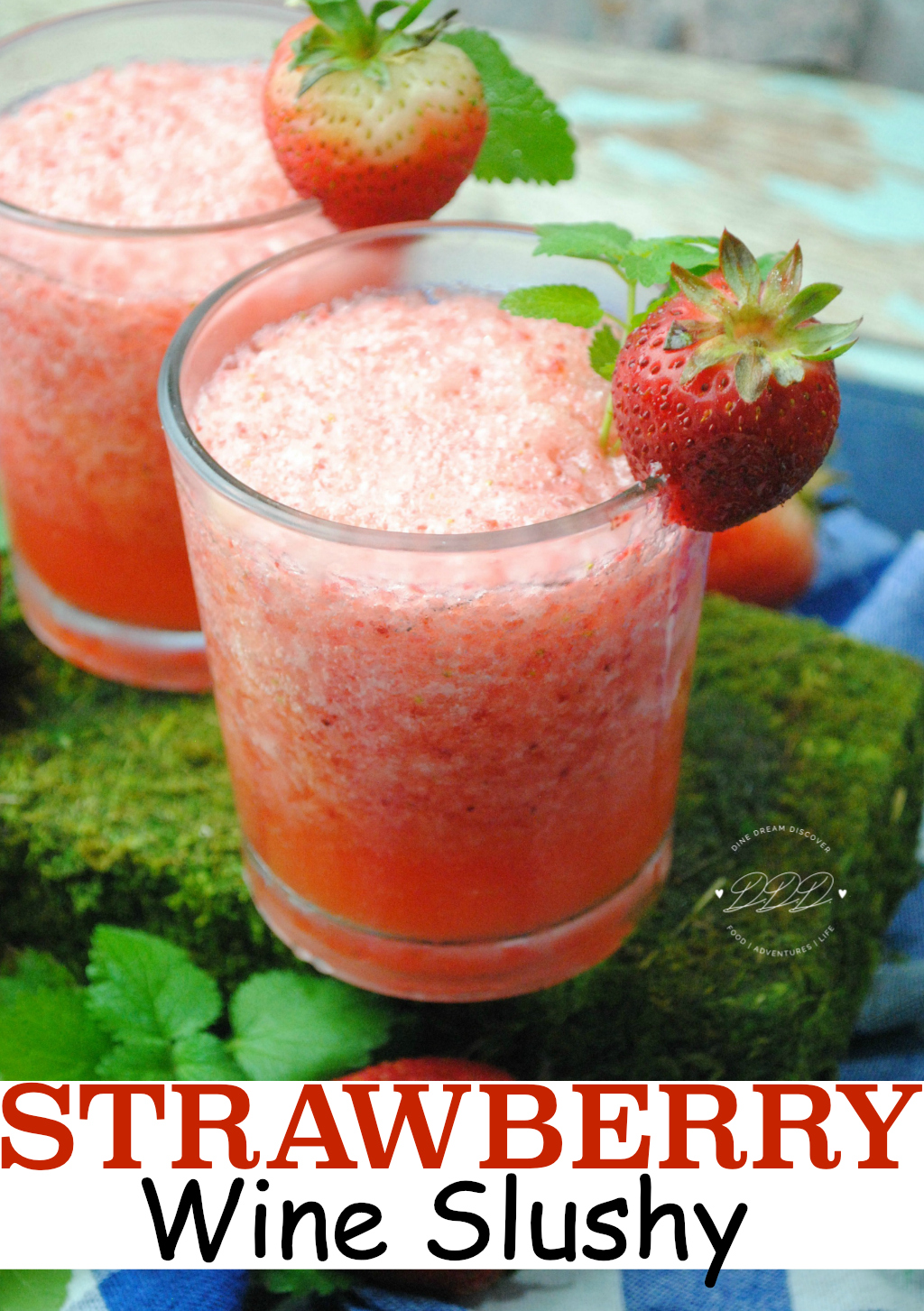 Tired of winter? Escape to a tropical oasis by making a frozen treat. The Strawberry Wine Slushy is a great way to forget about winter for a few hours.