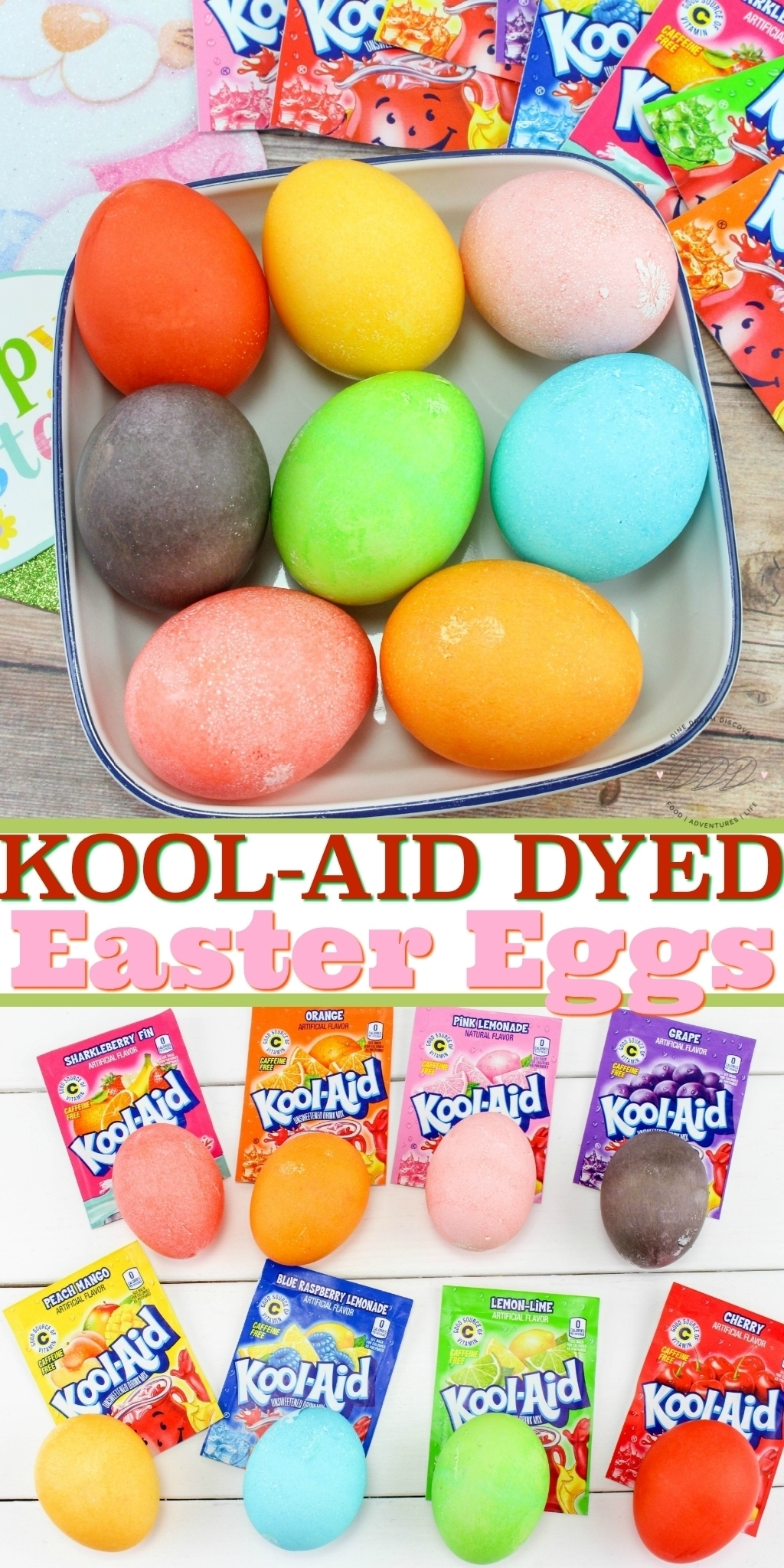 This post explains how easy and inexpensive it is to dye Easter eggs with Kool-Aid. It's so much more fun than a regular egg dye kit.