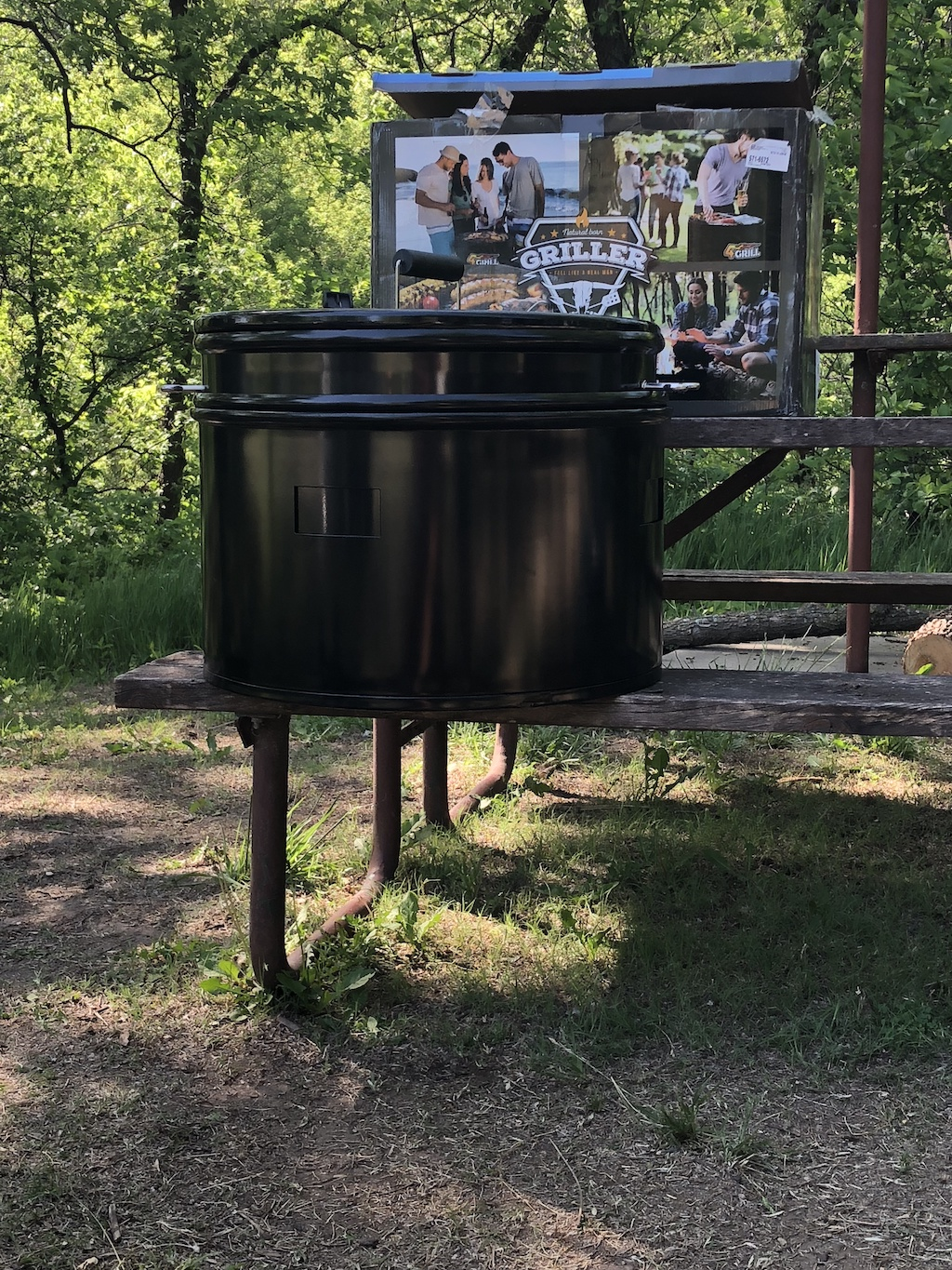 Looking like an old oil drum, the 4Grill Four in one Grill can grill, smoke, slow cook, and be your fire pit and is compact enough to take in your car.