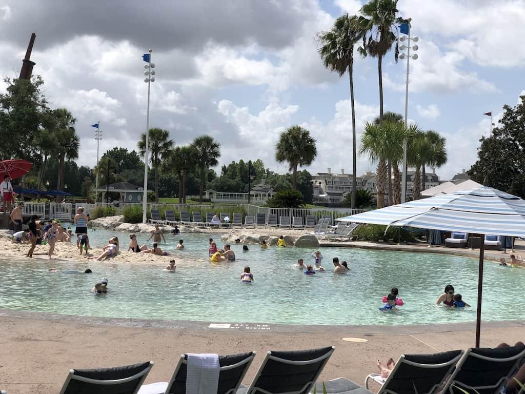 beach club sand bottom pool