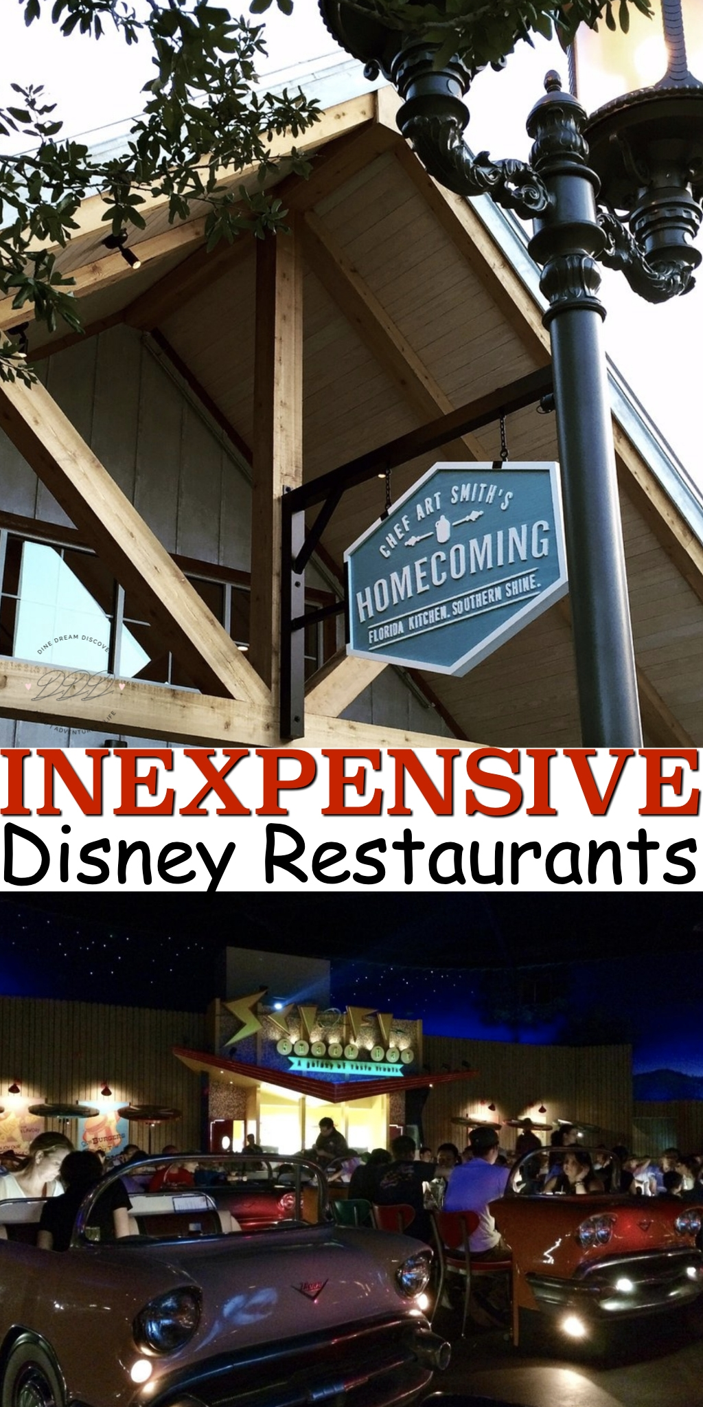 Here are five of the best themed Disney World restaurants that happen to be relatively inexpensive with some good old fashioned imagineering that goes a really long way.