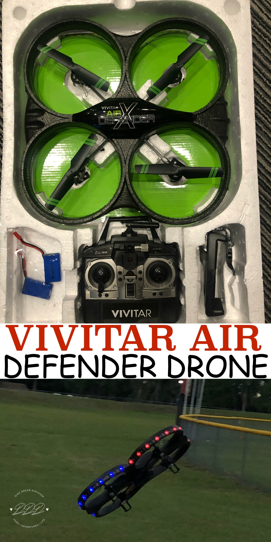 If you are looking for an inexpensive drone that does a little bit of everything, then you should take a look at the Vivitar Air Defender Drone.