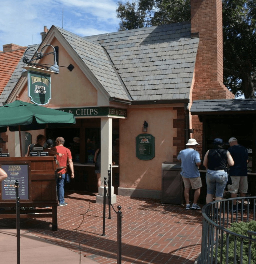 Located of course in the United Kingdom section of the World Showcase at Epcot you will find the best fish n chips in Walt Disney World.