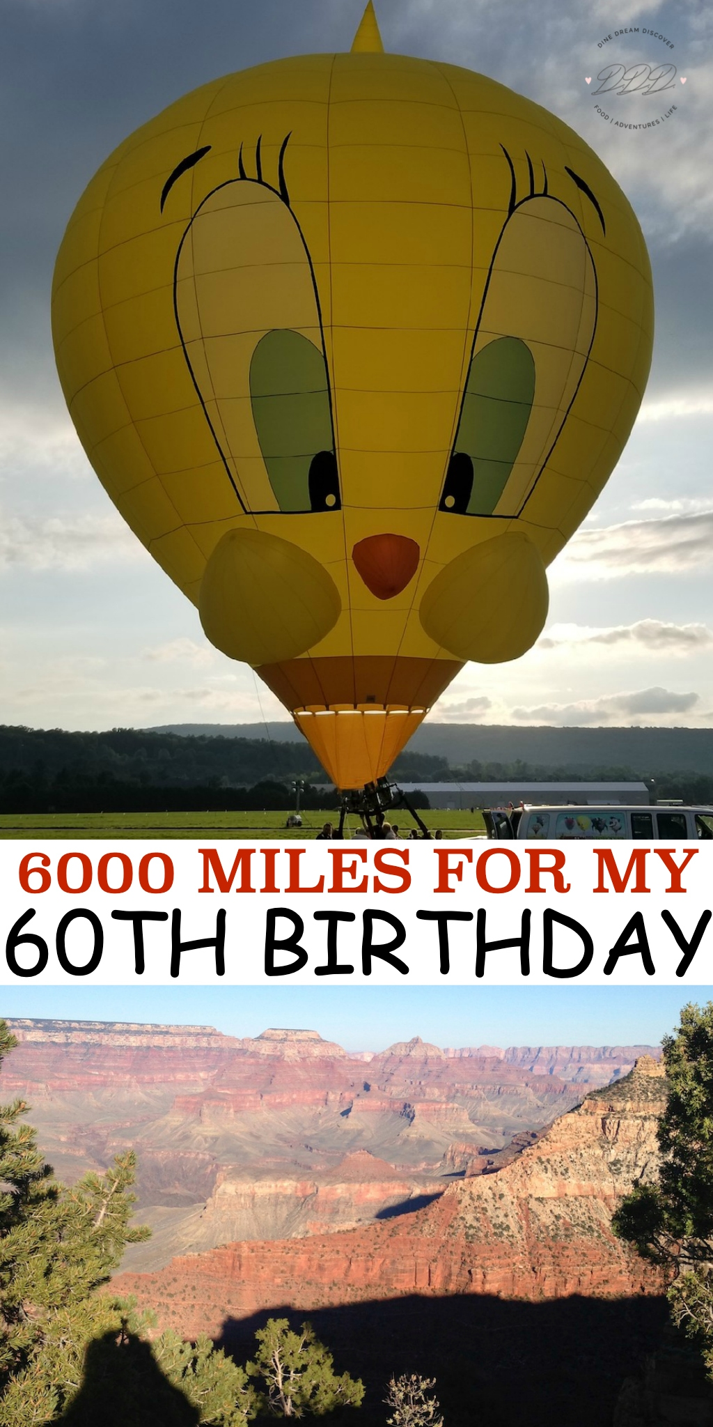 You only turn 60 once so why not celebrate your milestone birthday the way you want! We are headed out on a 6000 mile trip for my 60th birthday!