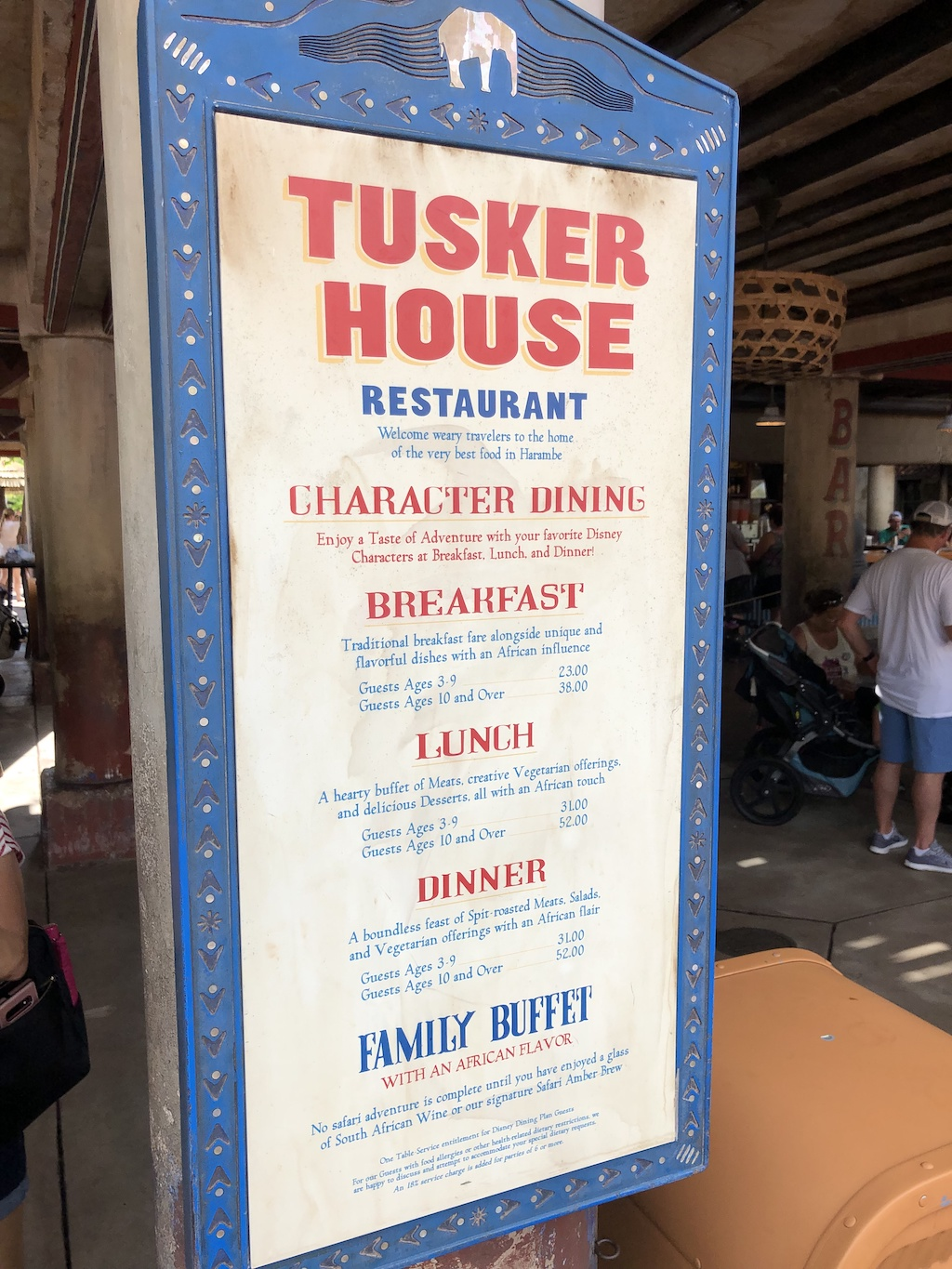 Plot out your your meals as tent poles, then fill in Fastpasses and other activities. Here are the best Animal Kingdom meals throughout your day.