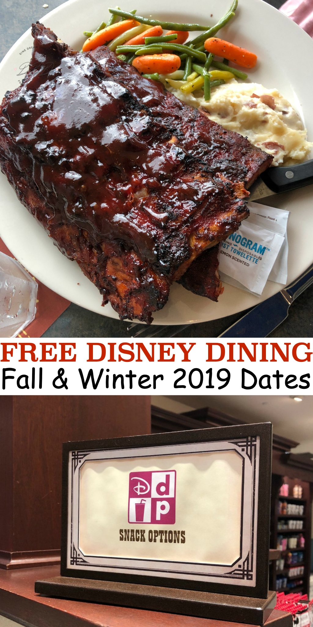 The Free Dining Disney Plan dates have been announced for fall and winter 2019. Find out if your Disney vacation is included in this!