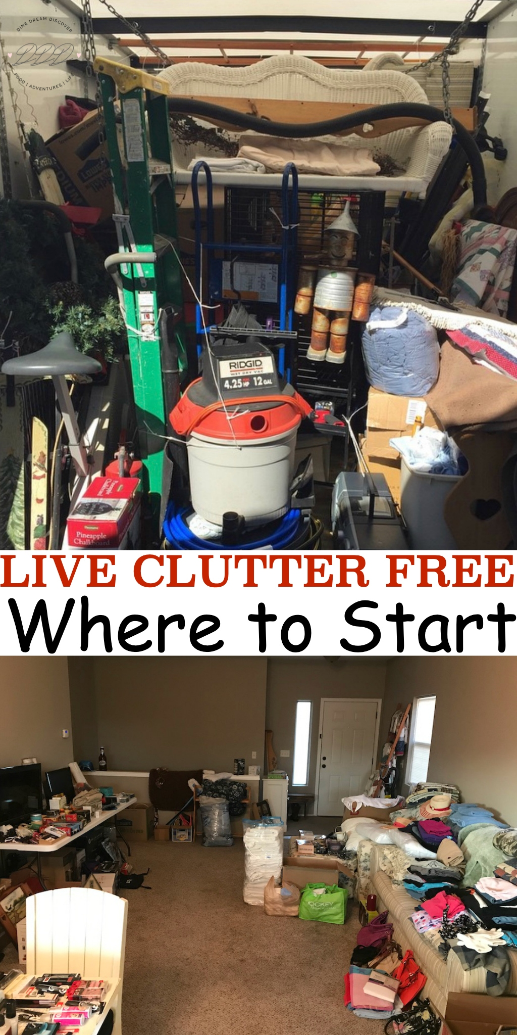 You want to get rid of it but you aren't sure where to start. You must be keeping all of these things for a reason. Where do you begin to live clutter free?