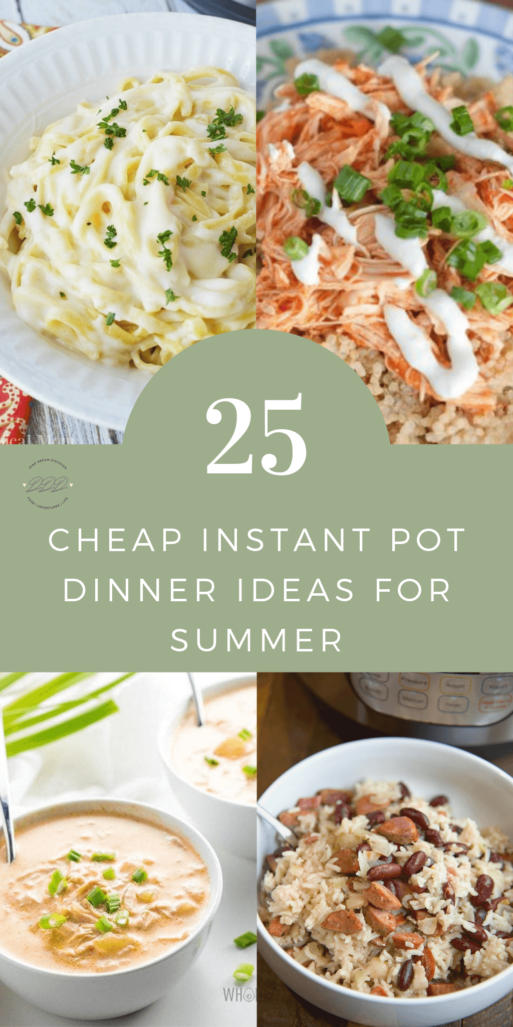 Summer isn't quite over yet and if your weather is anything like ours....it's hot! Here are 25 cheap Instant Pot dinner ideas that are perfect for this time of year.