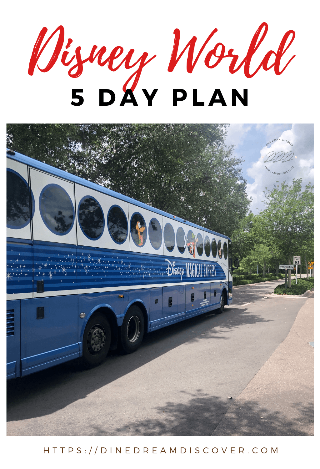 This 5 day Disney World plan is designed to structure the broad strokes of your Walt Disney World schedule so you can fill in the rest.