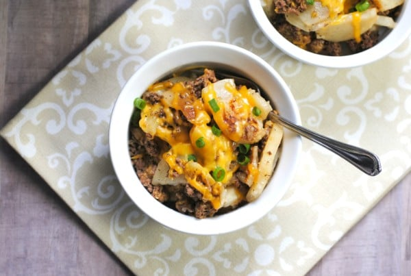 Instant Pot Cheesy Hamburger Potato Casserole