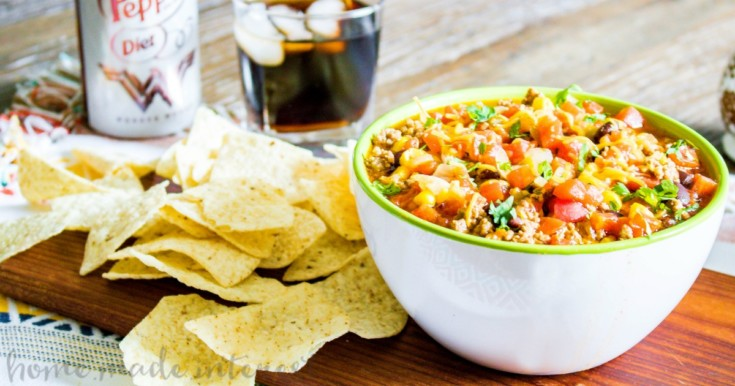 Pressure Cooker Taco Soup {Instant Pot}