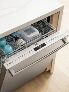 What good is a dishwasher if you have to pre-wash your dishes before you put them in the dishwasher? Check out the new Bosch 800 Series Dishwasher at Best Buy!