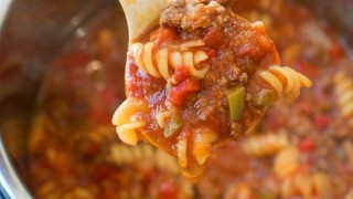 Instant Pot Sloppy Joe Casserole