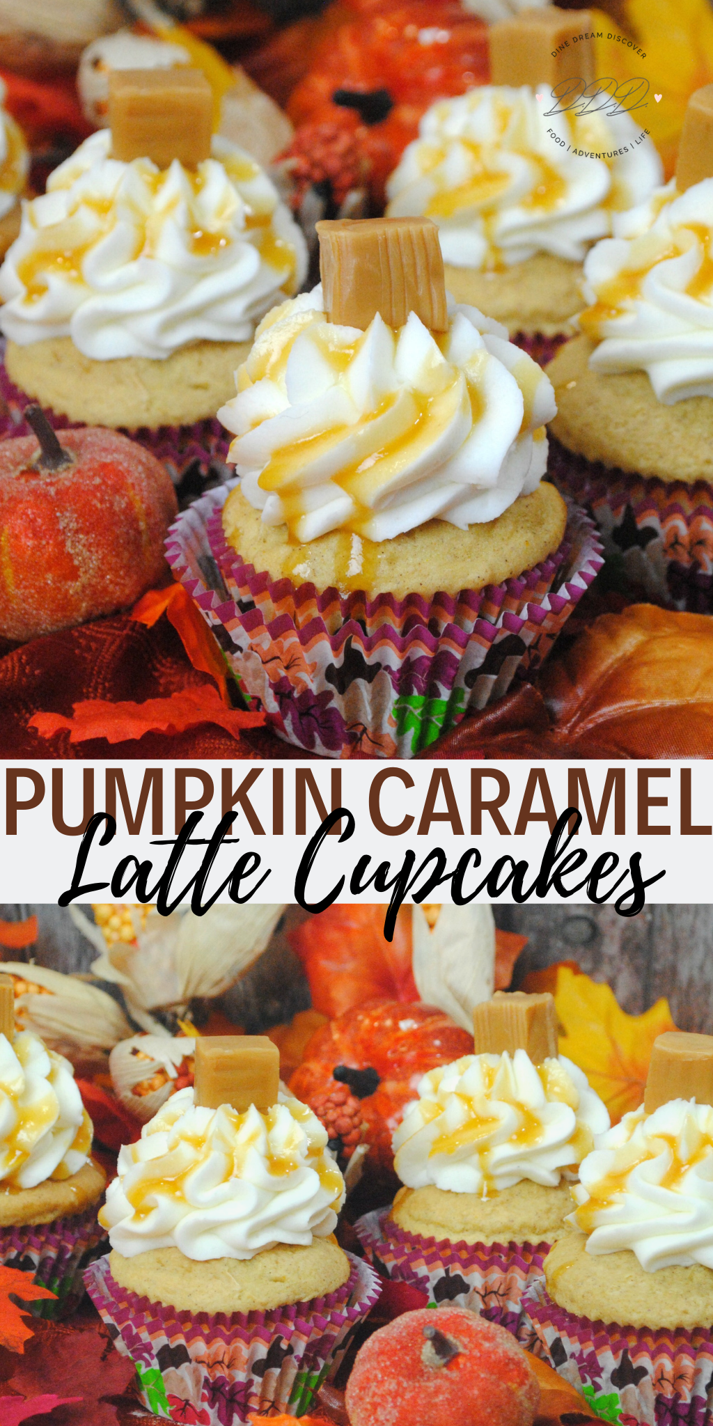 Pumpkin Caramel Latte Cupcake is a blend of pumpkin, caramel, and coffee all rolled into a mouth watering cupcake just in time for fall and pumpkin season.