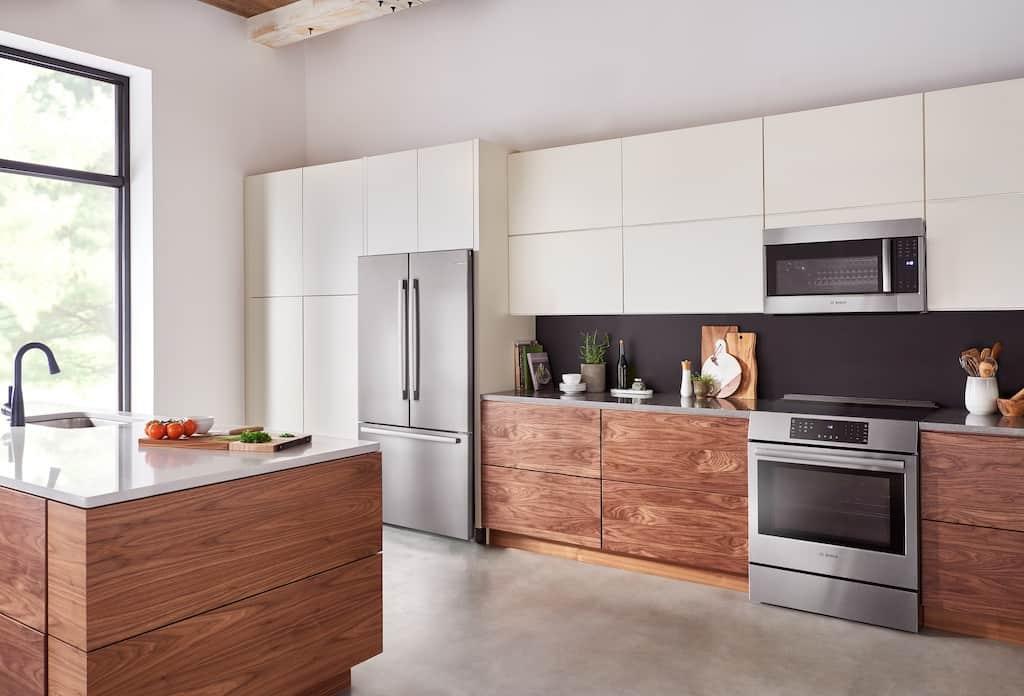 stainless bosch counter-depth refrigerator