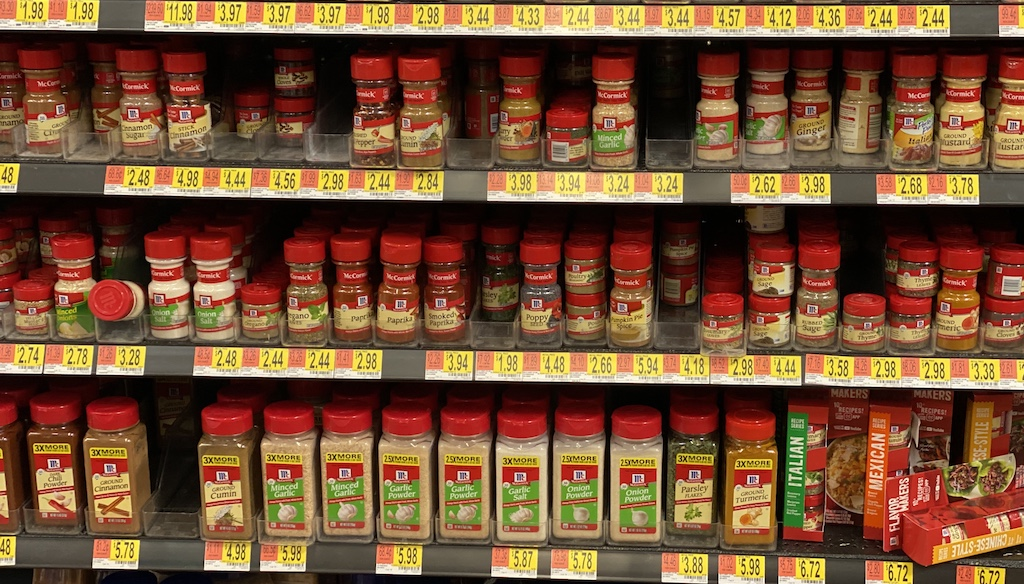 mccormick spices at walmart