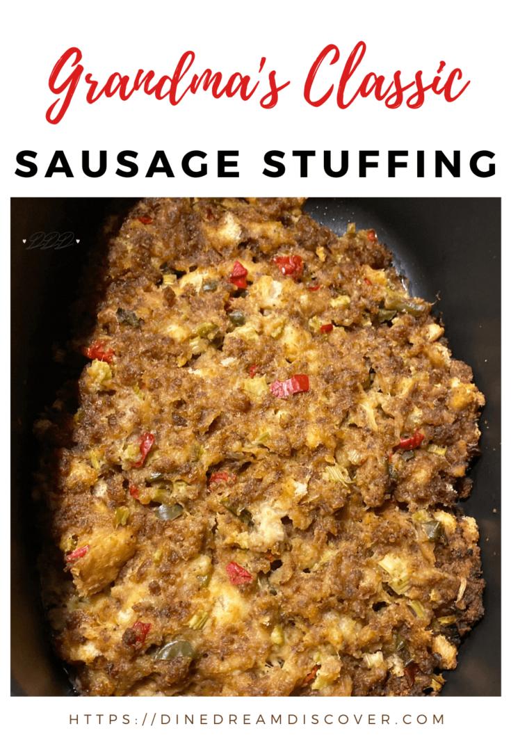 grandma's classic sausage stuffing recipe