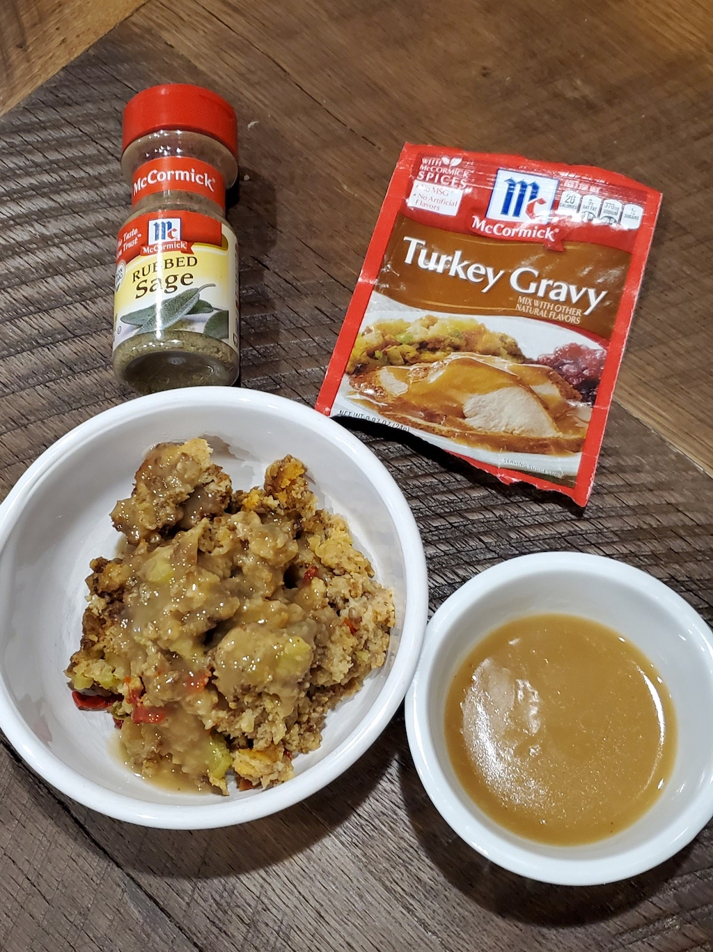 sausage stuffing and mccormick turkey gravy