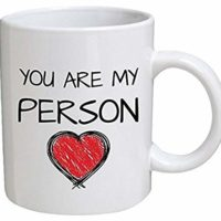 Funny Mug - You are My Person. Red Heart. Boyfriend, Girlfriend - 11 OZ Coffee Mugs - Funny Inspirational and Sarcasm