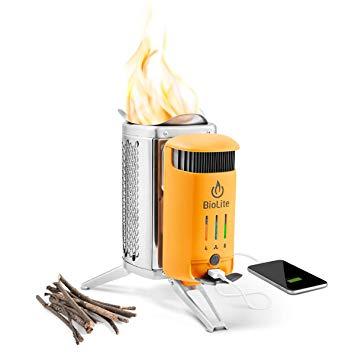 BioLite CampStove Campstove 2 Wood Burning Electricity Generating & USB Charging Camp Stove