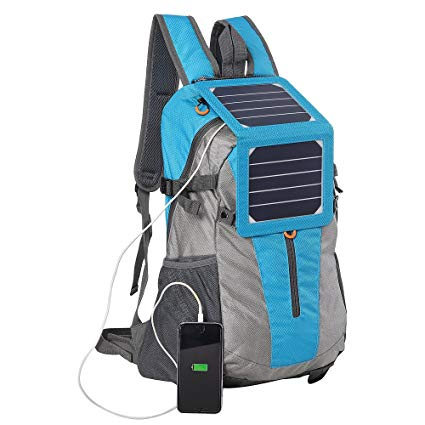 ECEEN Backpack with Solar Charger; Battery Pack for Smart Phones