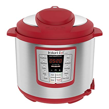 Instant Pot Lux 6 Qt Red 6 in 1 Muti Use Programmable Pressure Cooker, Slow Cooker, Rice Cooker, Sauté, Steamer, and Warmer