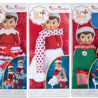 Bundle of 3 Elf on the Shelf Girl Outfits - Exclusive 2017 Snowflake Skirt, Twirling in the snow skirts and Claus Couture Sweet Shop Set Novelty, Green/ Red