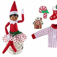 The Elf on the Shelf Outfit Pack - Party Skirt Pair and Switcheroo Sweater - 2 Festive Skirts and 6-in-1 Sweater Set