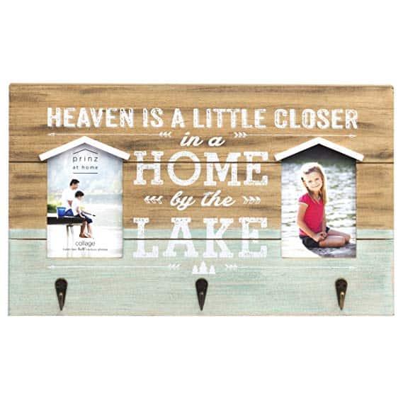 PRINZ Rustic Retreat Lake Plaque Heaven Closer