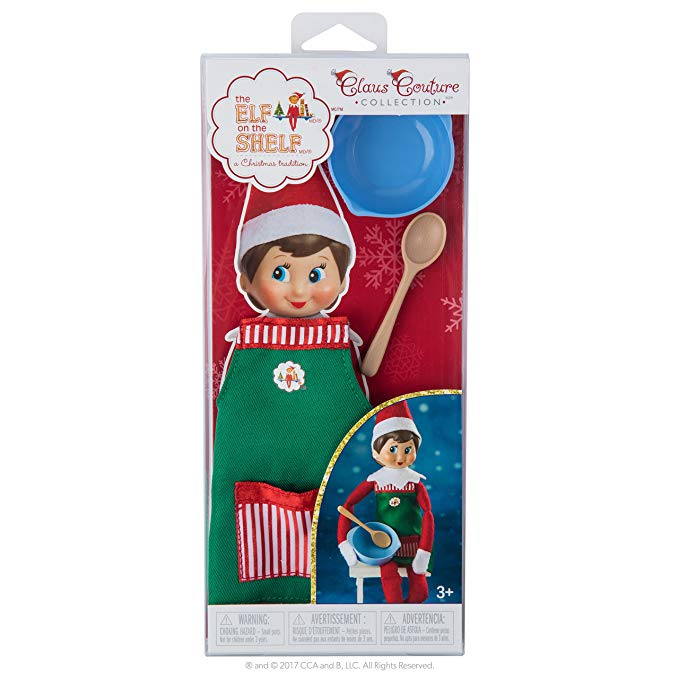 Elf on The Shelf Claus Couture Sweet Shop Set Novelty, Green/ Red