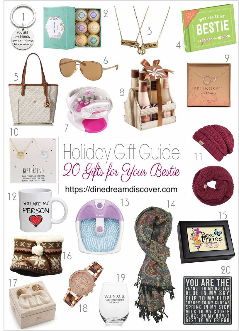 bestie gift guide DINE DREAM DISCOVER