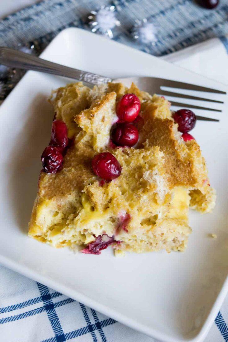 Cranberry Eggnog Breakfast Bake