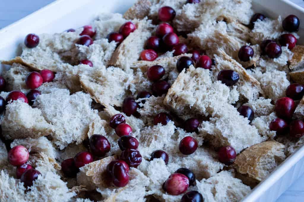 unbaked cranberry breakfast casserole
