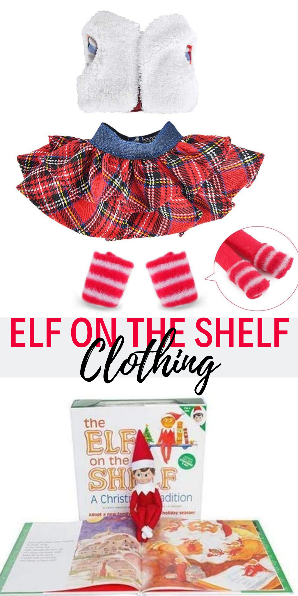 Since so many are into the Elf on the Shelf, how about dressing him (or her) up with some fun Elf on the Shelf clothing. There are so many new items this year and the kids will be surprised!