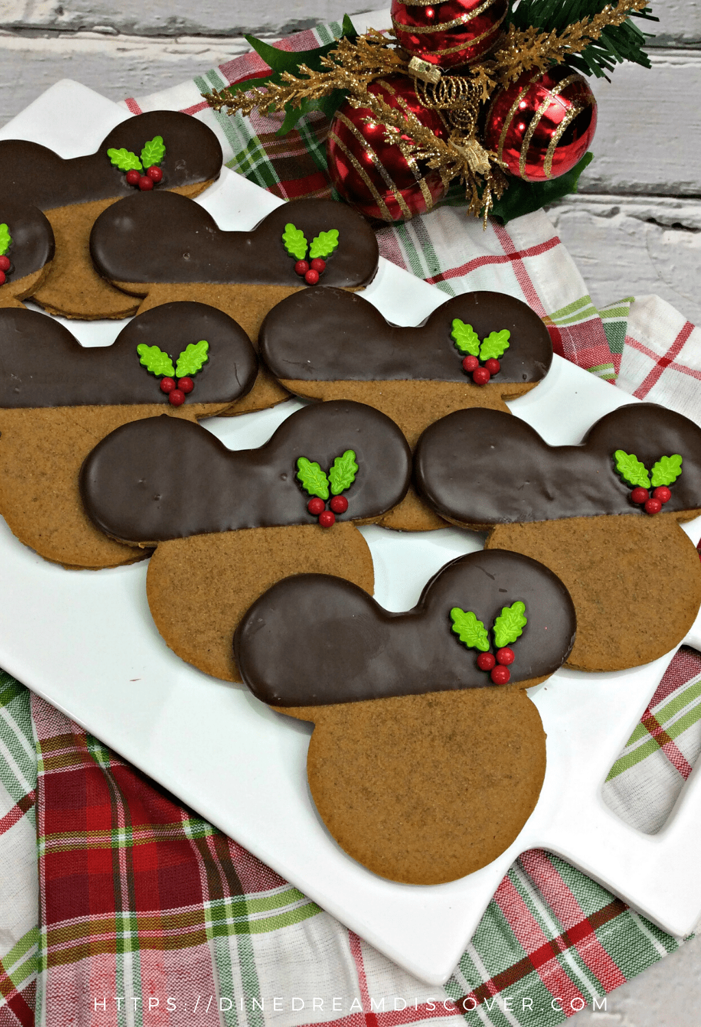 Gingerbread Mickey Mouse Cookies