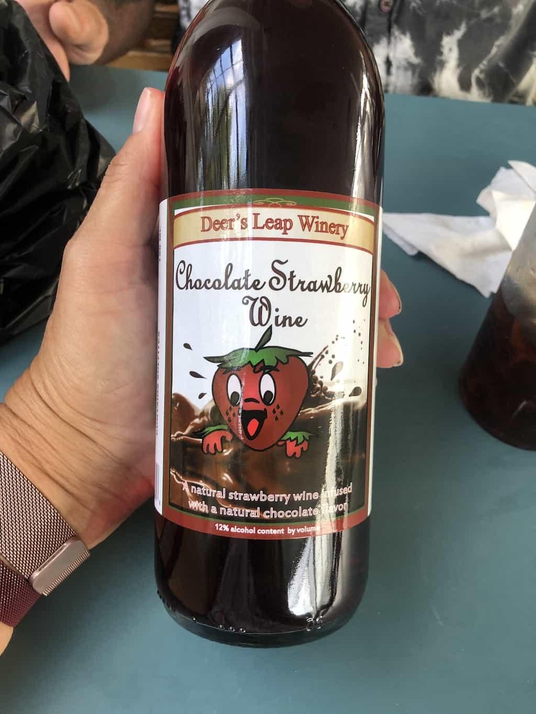 chocolate strawberry wine