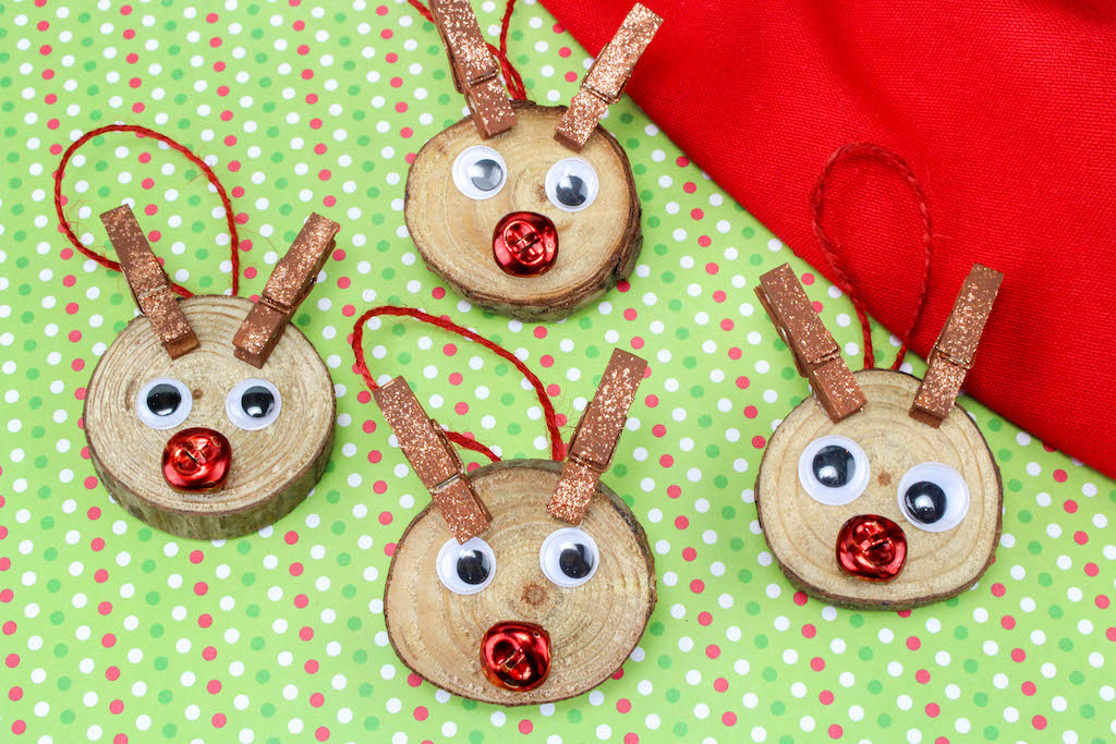 reindeer christmas tree ornaments