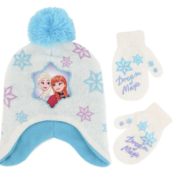Toddler Frozen Elsa Beanie Hat and Mittens