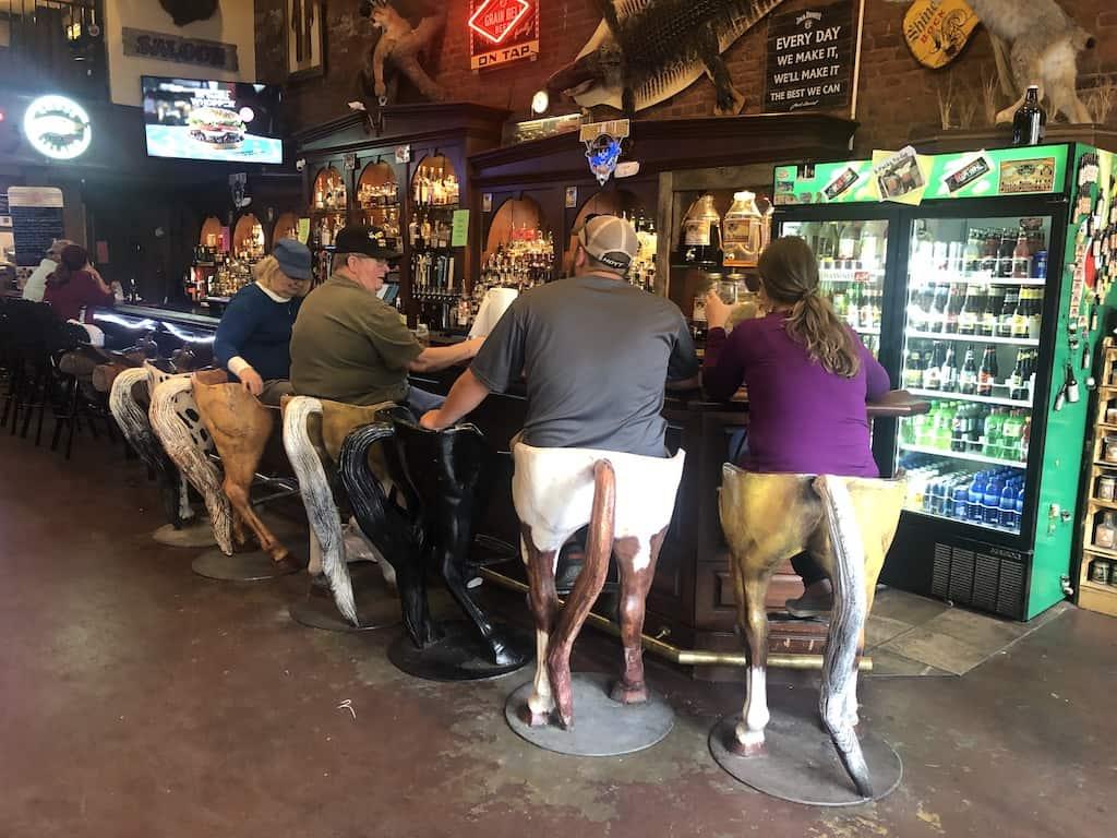 nugget saloon horse butt bar stools visitors guide deadwood south dakota