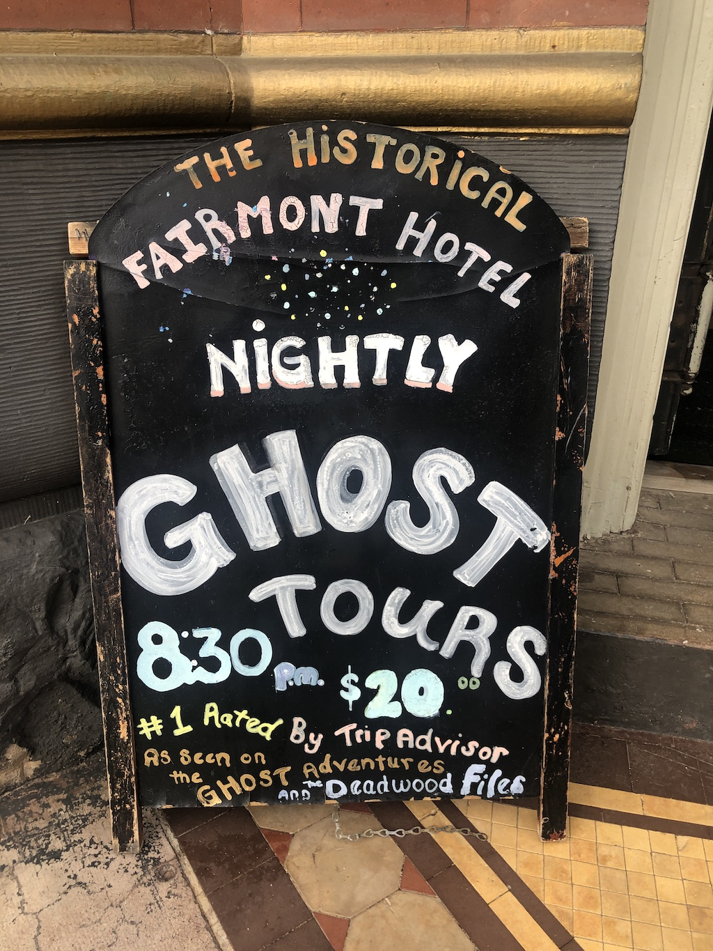 nightly ghost tours fairmont hotel