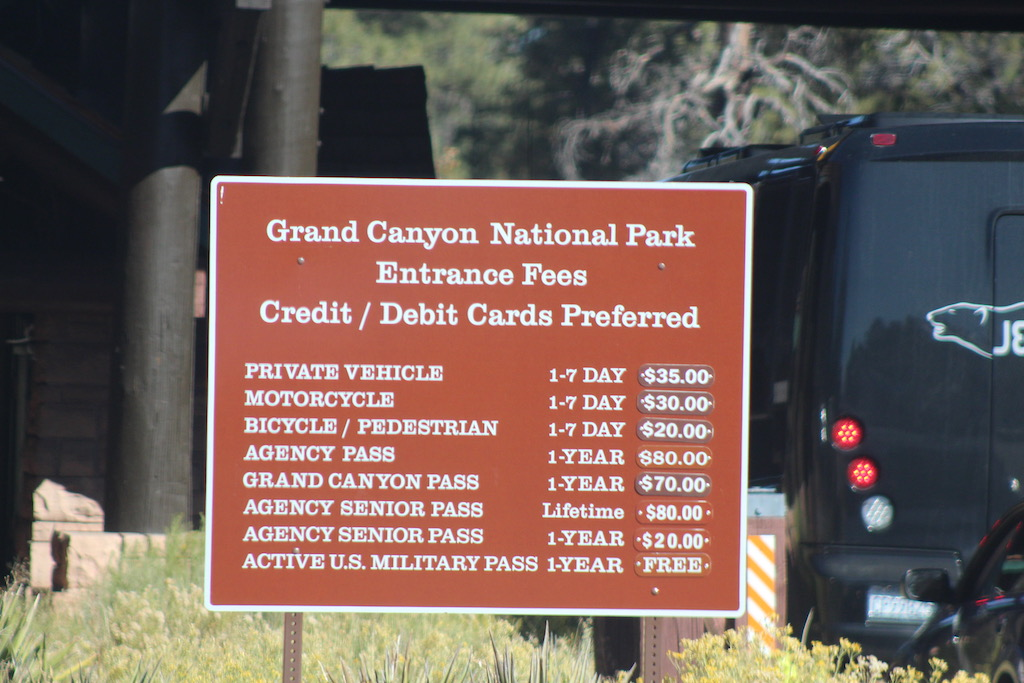 how much does the grand canyon cost