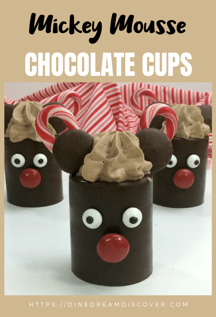 mickey mousse chocolate dessert cups