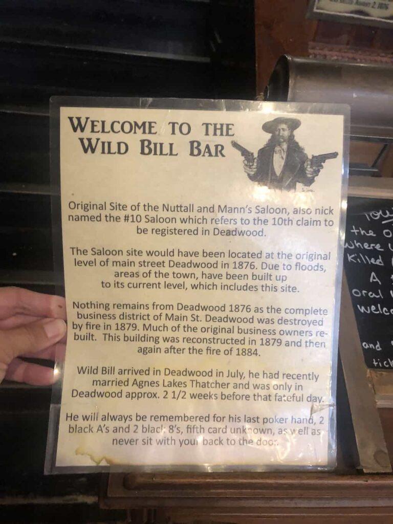 wild bill bar
